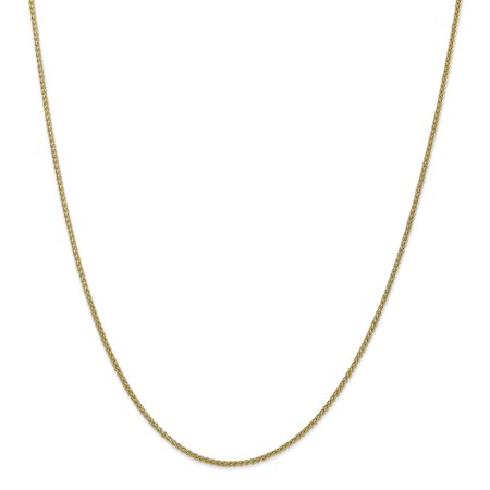 Indian Gold Jewelry - ICE CARATS 14kt Yellow Gold 1.55 Mm Link Wheat Chain Necklace 20 Inch Pendant Charm Spiga Fine Jewelry Ideal Gifts For Women Gift Set From Heart