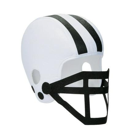 White And Black Foam Football Helmet White And Black Foam Football Helmet Team (Mac Football Helmets)
