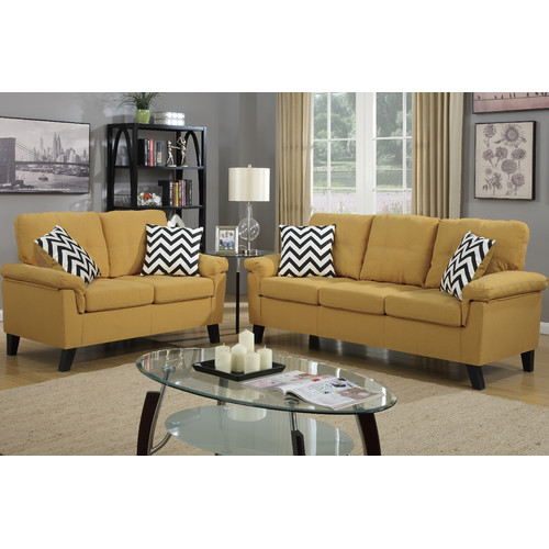 Winston Porter Mathias 2 Piece Standard Living Room Set