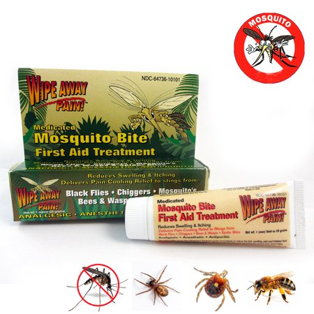 Mosquito Medicated Relief Gel Wipe Away Pain Anti Itch Insect Bite First Aid