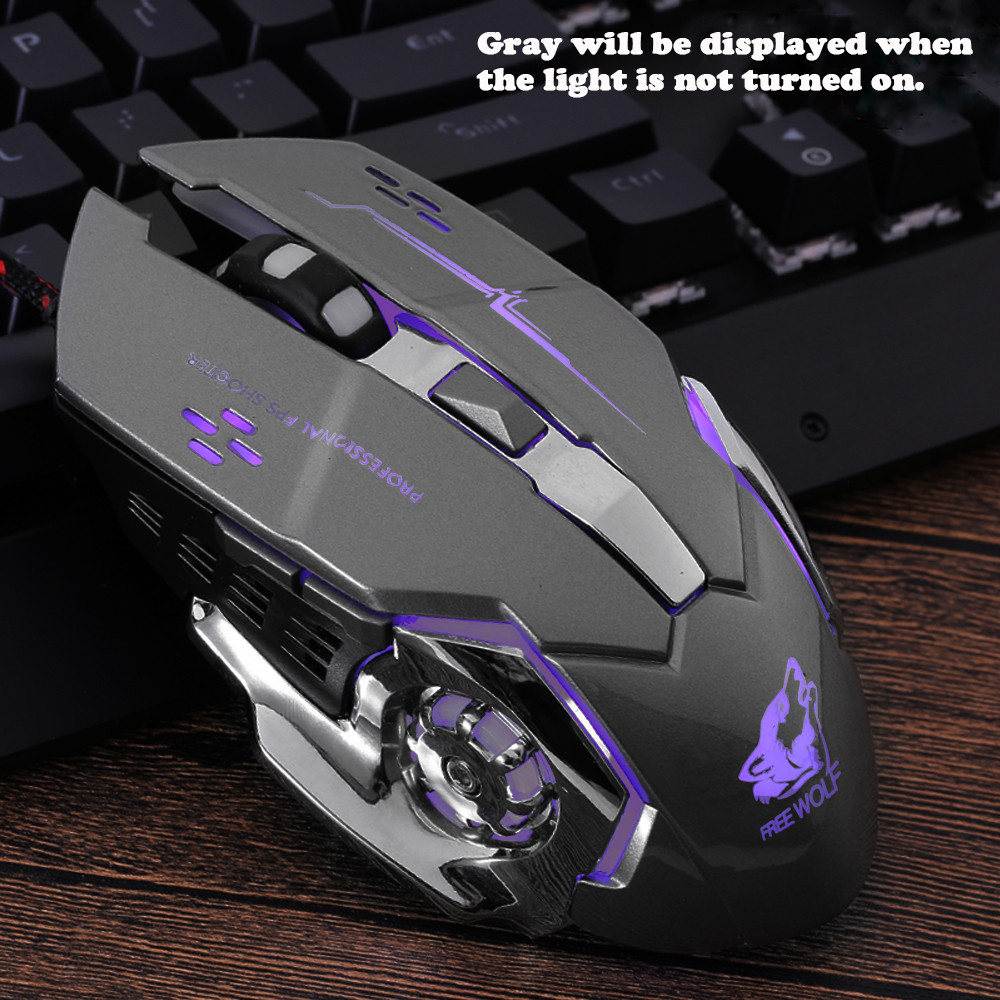 Tuscom Rechargeable X8 Wireless Silent LED Backlit USB Optical Ergonomic Gaming Mouse