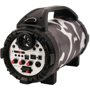 Blackmore 750W Portable Rechargeable Bluetooth Speaker with Mic Input - Camo/Blk