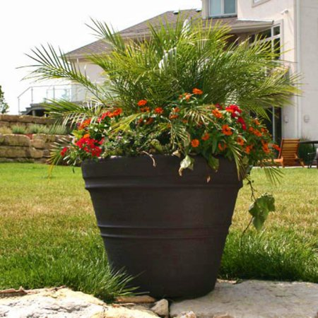 Garden Zone Green (Round Polyresin Mesa Planter )