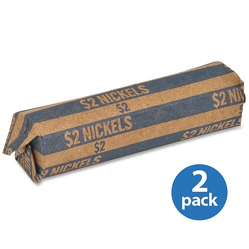 (2 Pack) Sparco, SPRTCW05, Flat Coin Wrappers, 1000 / Box, Blue