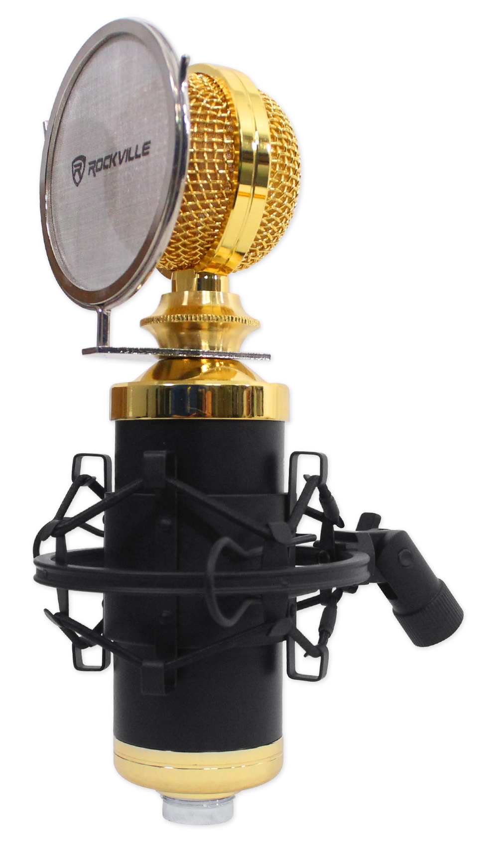 Rockville RCM02 Studio Recording Condenser Microphone Mic+Shock Mount+Shield