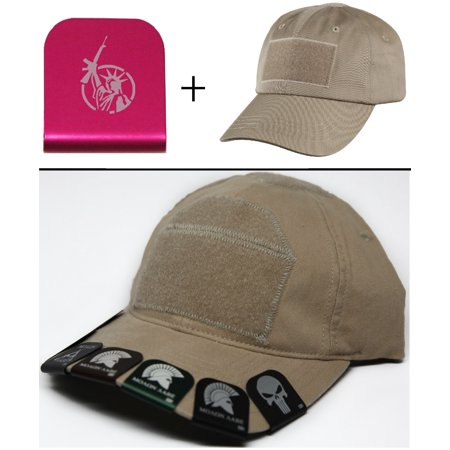 STATUE OF LIBERTY WITH AR Cap Crown Rim Brim-It Pink + Tan Hat - Statue Of Liberty Hats