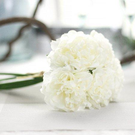 Artificial Silk Fake Flowers Peony Floral Wedding Bouquet Bridal