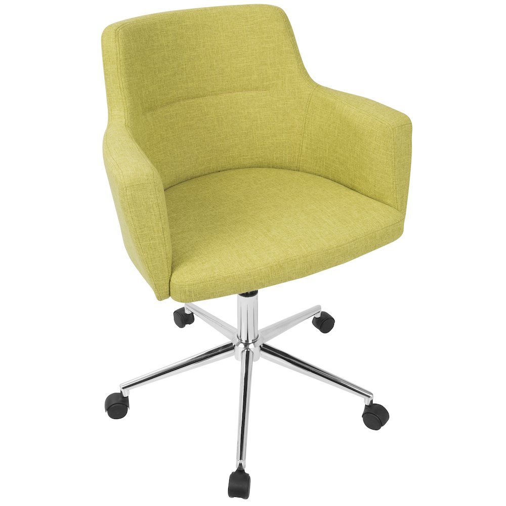Andrew Contemporary Adjustable Office Chair in Citrus Green by Lumisource by