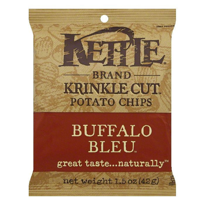 Kettle Brand Buffalo Bleu Potato Chips 1.5 oz Bags - Pack of 24