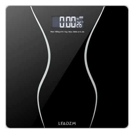 Clearance!Scale for Weight, 400lbs Bathroom Bluetooth Body Fat Scale with Step-On Technology, Smart Digital BMI Scale Body Composition Monitor with 6mm Tempered Glass, Low Power/Overload Indication