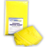 "Primacare DC-6832 Disposable Transport Blanket, 90"" x 60"", Yellow"