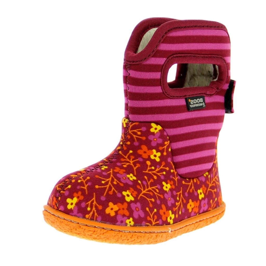 Bogs Boots Girls Baby Classic Flower Stripe WP Rubber 71565I by Bogs