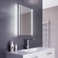 Diamond X Crest LED Illuminated Bathroom Mirror with Sensor & Demister - k440