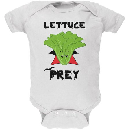 Halloween Vegetable Lettuce Let Us Prey Dracula Funny Soft Baby One Piece](Halloween Babies R Us)
