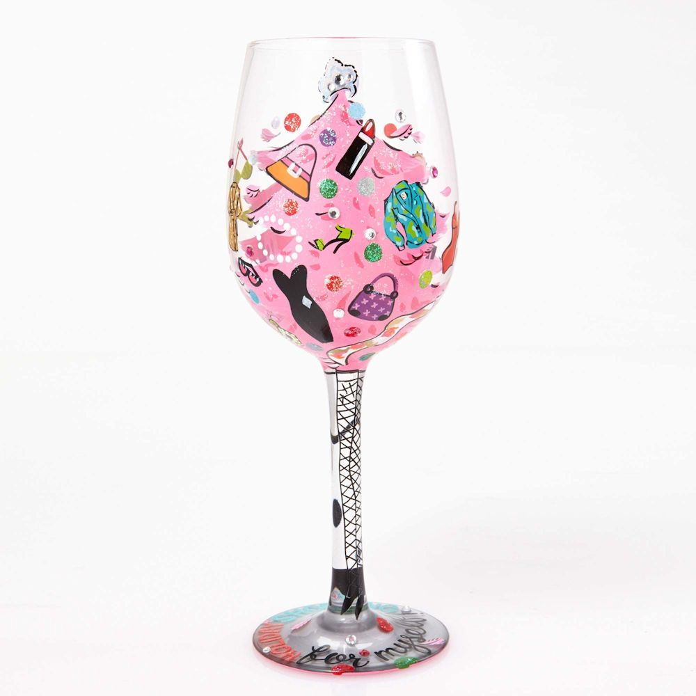 Lolita 4054524 Shopping For Myself Wine Glass