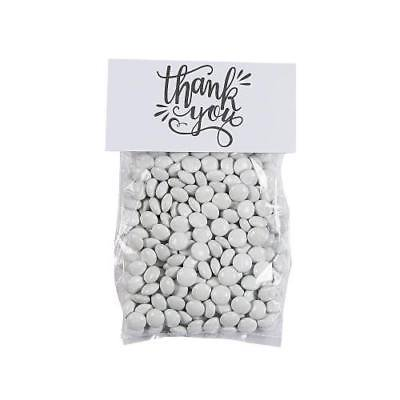 IN-13794985 Thank You Cellophane Treat Bags with Topper 50 Piece(s) 2PK (Halloween Printable Treat Bag Toppers)