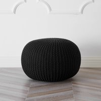 Deals on Urban Shop Round Knit Pouf