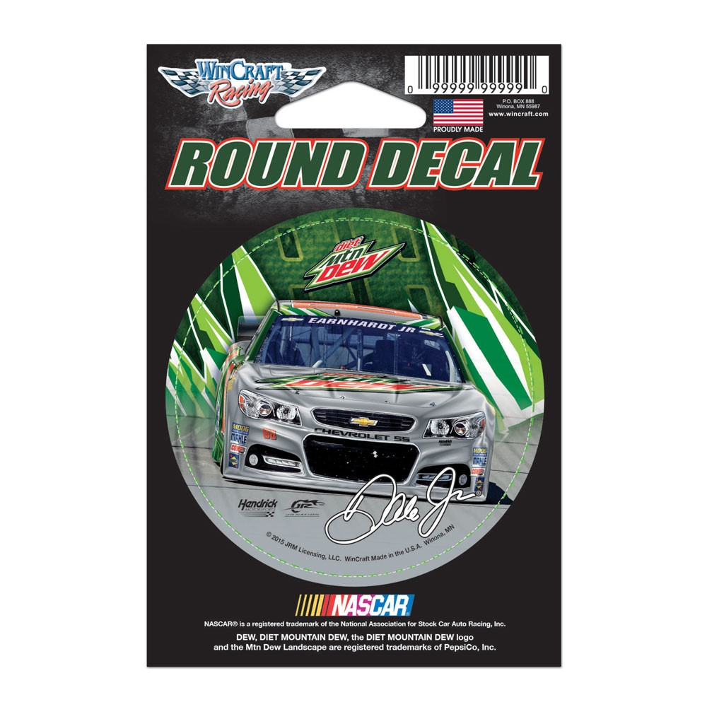 Dale Earnhardt Jr. Official NASCAR 3 inch  x 3 inch  Vinyl Car Decal by WinCraft