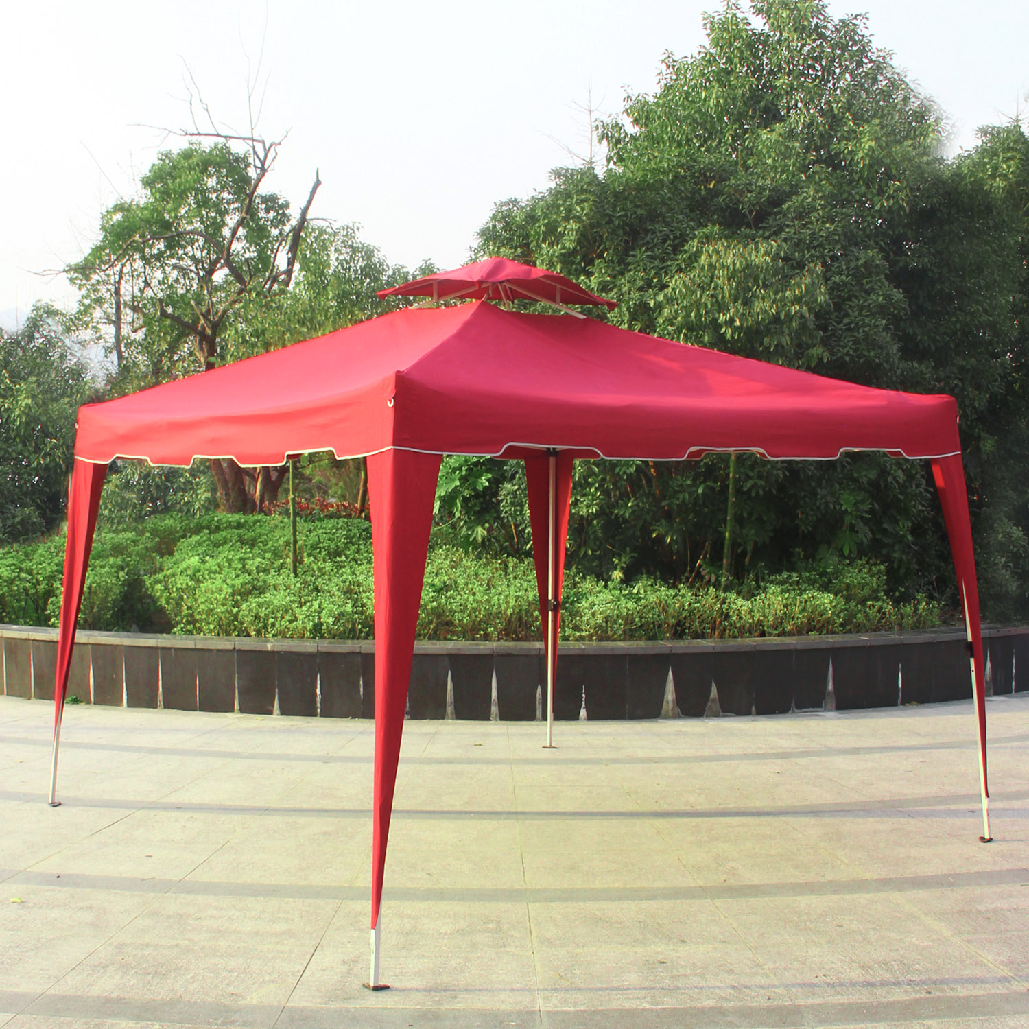 Cloud Mountain 10' x 10' Garden Pop Up Canopy Gazebo Patio Outdoor Double Roof Easy Set Up Canopy Tent with Carry Bag 5 Colors to Choose