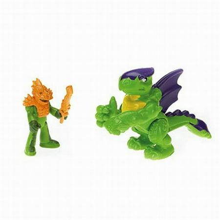 Fisher Price Imaginext Green Turtle Dragon & Figure Set ()