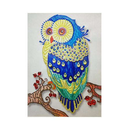 5D Special Shaped Diamond Cross Stitch Home Decoration DIY Embroidery Painting Rhinestones Owl Paints