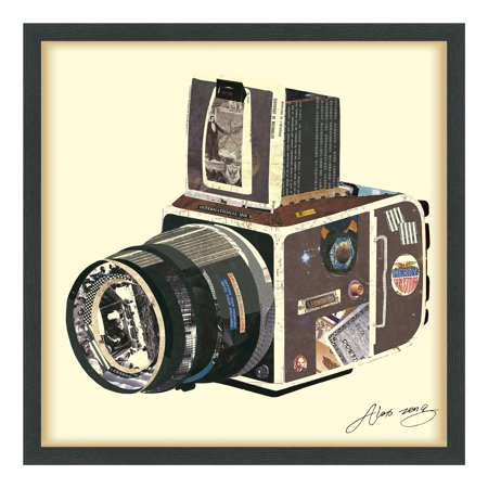 Empire Art Direct SLR Camera Dimensional Collage Framed Graphic Art Under Glass Wall Art, 25