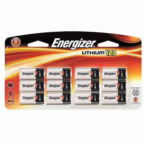 Energizer 123 Battery, 12 Pack, EL123-12