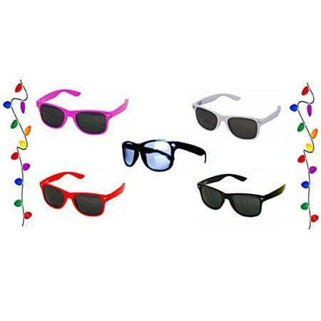 Superstar Shades - Wayfarer Style Sunglasses - Classic Retro Style - Bundle of 4