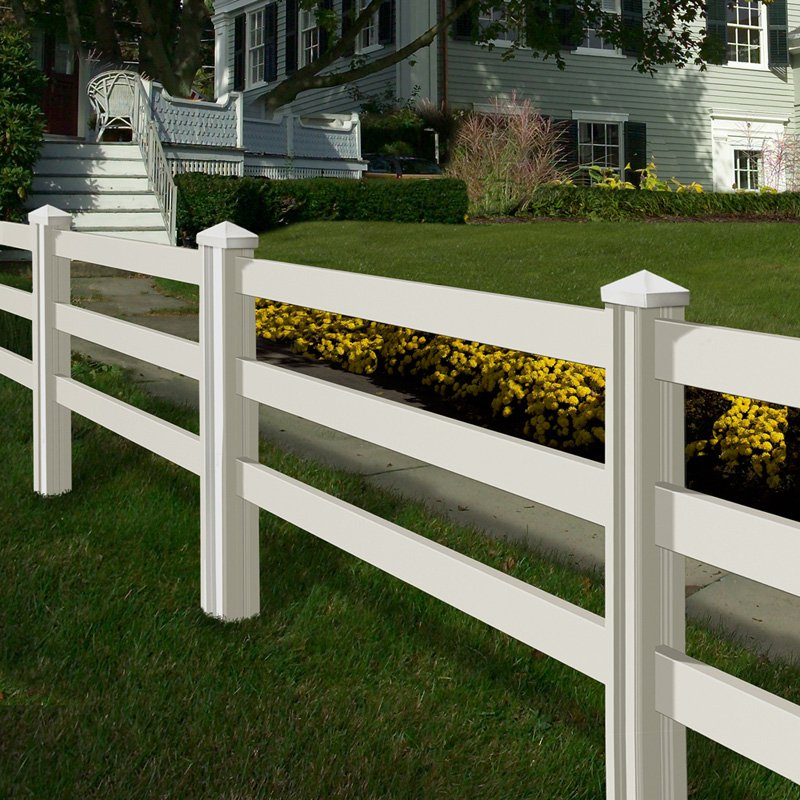 Wam Bam Premium Ranch Rail Vinyl Fence Panels with Posts and Caps 4 ft. by Wam Bam Fence CO.