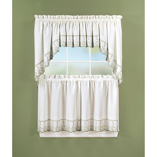 Abby Kitchen Swag, Tier or Valance, Sage