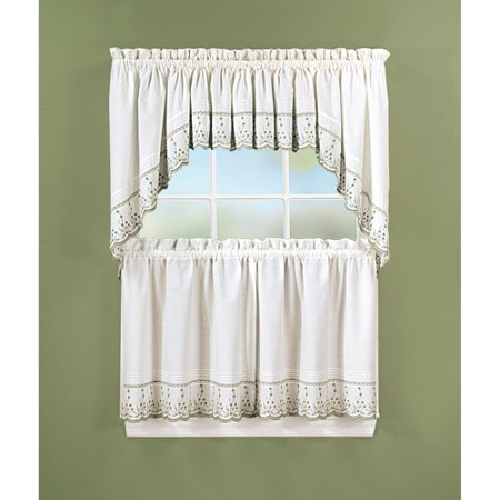 Abby Kitchen Tier Curtains, Swag Pair or Valance, Sage