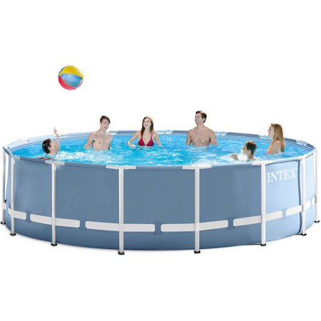 Intex 16 39 x 48 prism frame above ground swimming pool with filter pump box 1 - Intex prism frame ...