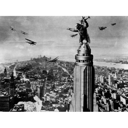 1933 Fine Art (King Kong 1933 Vintage Movie Still Black and White Photography Print Wall Art)