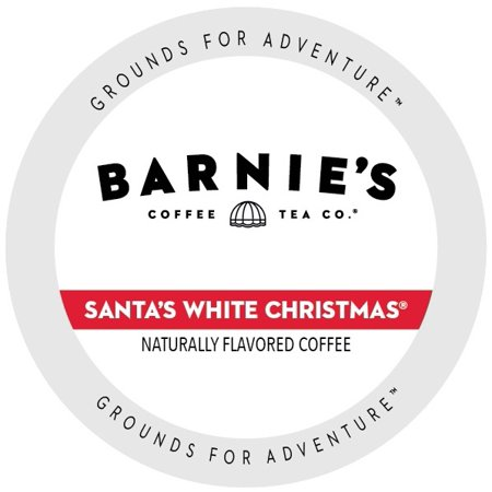 barnies coffee kitchen santas white christmas single serve cup portion pack for keurig k