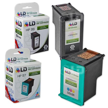 Hewlett Packard All In One - Remanufactured Hewlett Packard HP C8767WN (96) and C9363WN (97) Set of 2 Ink Cartridges: Includes 1 Black and 1 Color
