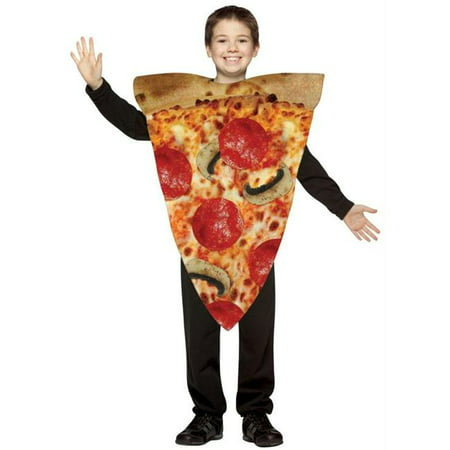 Costumes For All Occasions Gc9105 Pizza Slice Child Costume 7-10](Diy Pizza Costume)