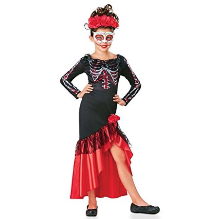Floor 13 Halloween Seasons Tower (SEASONS DIRECT Halloween Girl's Day of The Dead Senorita Costume Includes Dress,Headpiece and Mask)