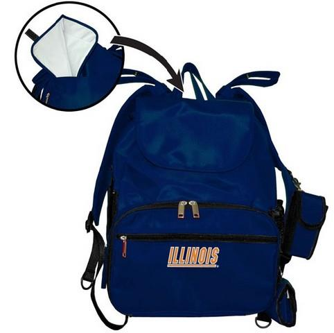 University of Illinois Diaper Bag Daddy Approved Travel Bag