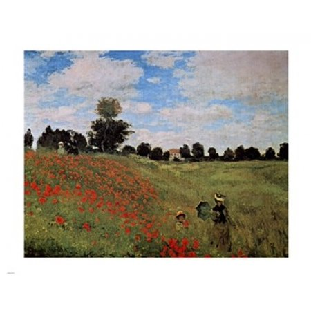 Corn Poppies Rolled Canvas Art - Claude Monet (28 x 22) - Corn Roll