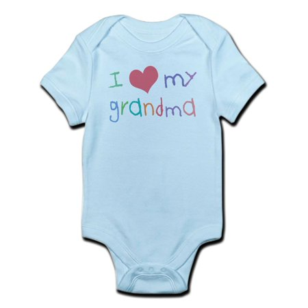 CafePress - Kids I Love My Grandma Infant Bodysuit - Baby Light - I Love My Grandma Onesies