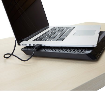 Mind Reader Lap Desk Laptop Cooler Cooling Pad, Slim Portable USB Powered
