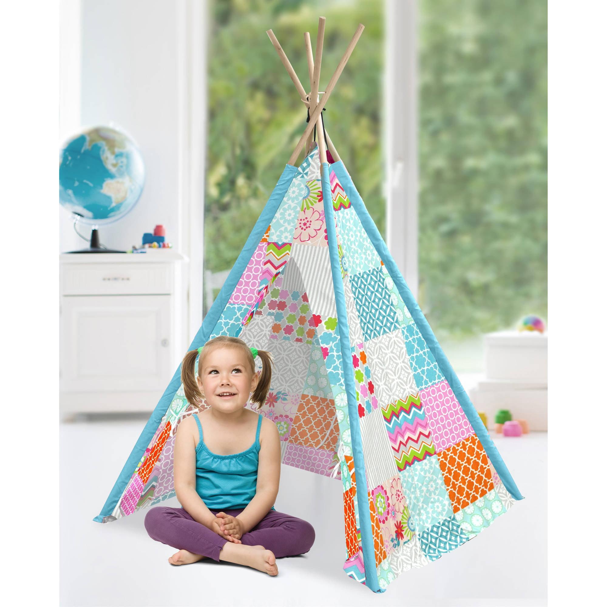 American Kids Tee-Pee Play Tent, Patchwork