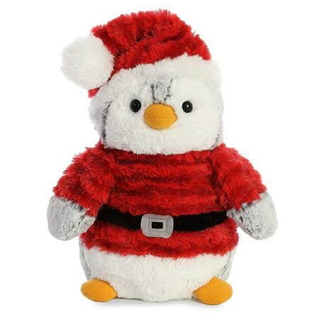 Pom Pom Penguin Santa 9 inch - Stuffed Animal by Aurora Plush (99009) (Stuffed Animal Penguins)