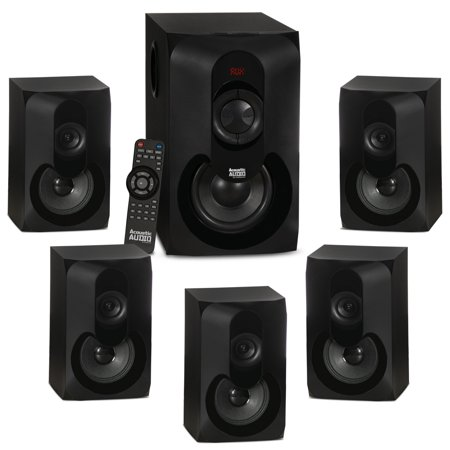 Acoustic Audio AA5301 Bluetooth Powered 5.1 Speaker System Home Theater Surround (Epic 5-1 Surround Sound Home Theater System)