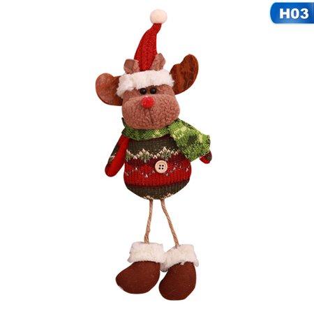 SHOPFIVE Magic 2018 New Christmas Ornaments Gift Santa Claus Snowman Reindeer Toy Doll Hang Decorations Christmas Decor Christmas Tree Decoration (Santas Magic Gift)