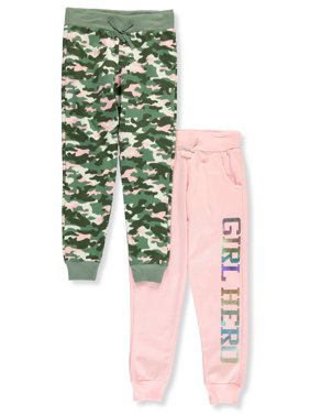 Love Republic Girl Foil Hero and Camo Fleece Jogger, 2-Pack (Little Girls & Big Girls)