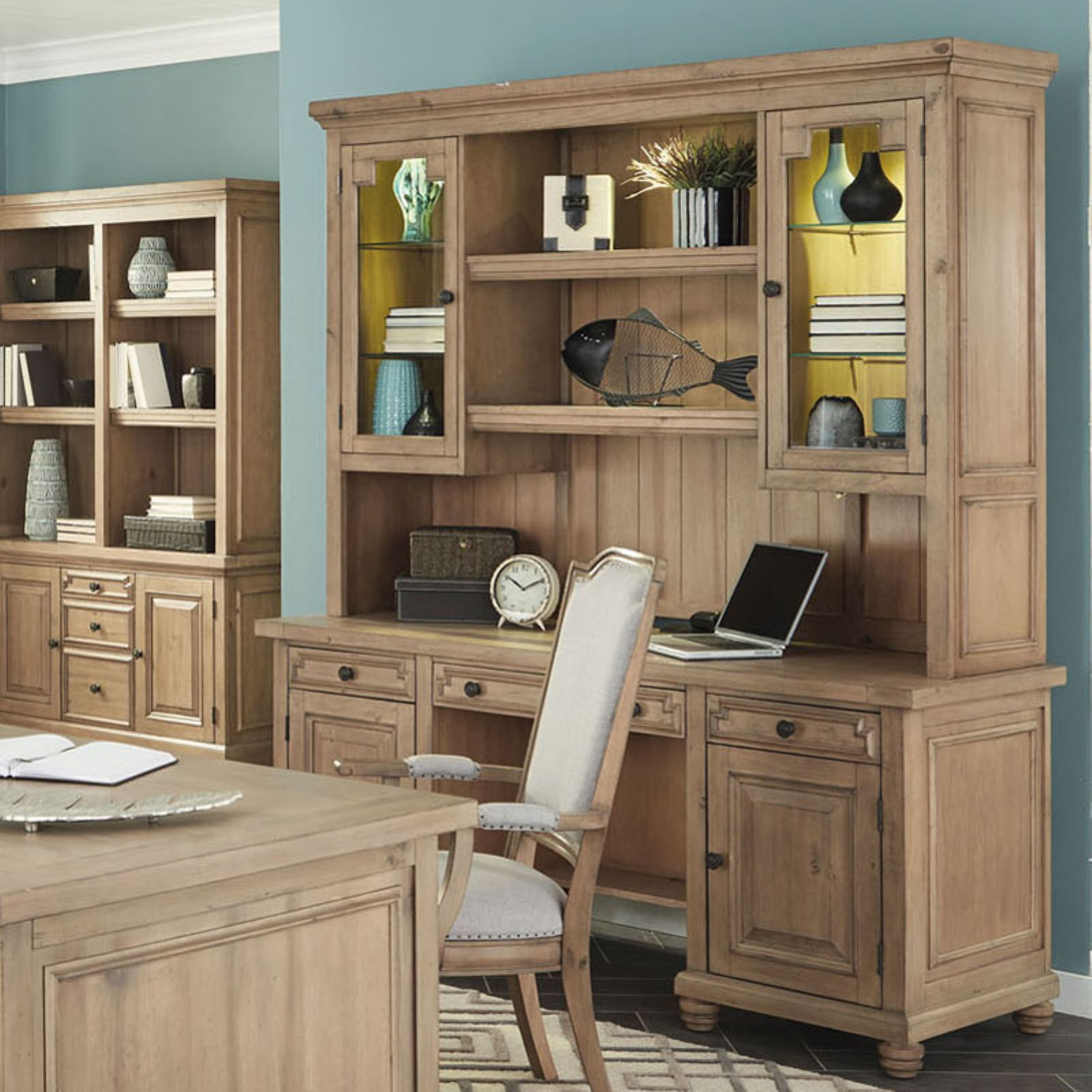 Donny Osmond Home Florence Home Office Credenza With Optional Hutch    Walmart.com