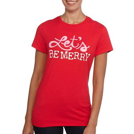b0fa7984 Holiday Time - Holiday Time Women's Holiday Tees - Walmart.com