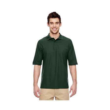 Jerzees Men's Welt Knit Collar 3 Button Pique Polo Shirt, Style 537MR Pocket Pique Knit Shirt