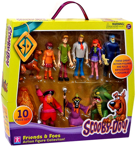 Scooby Doo Friends & Foes Action Figure Set